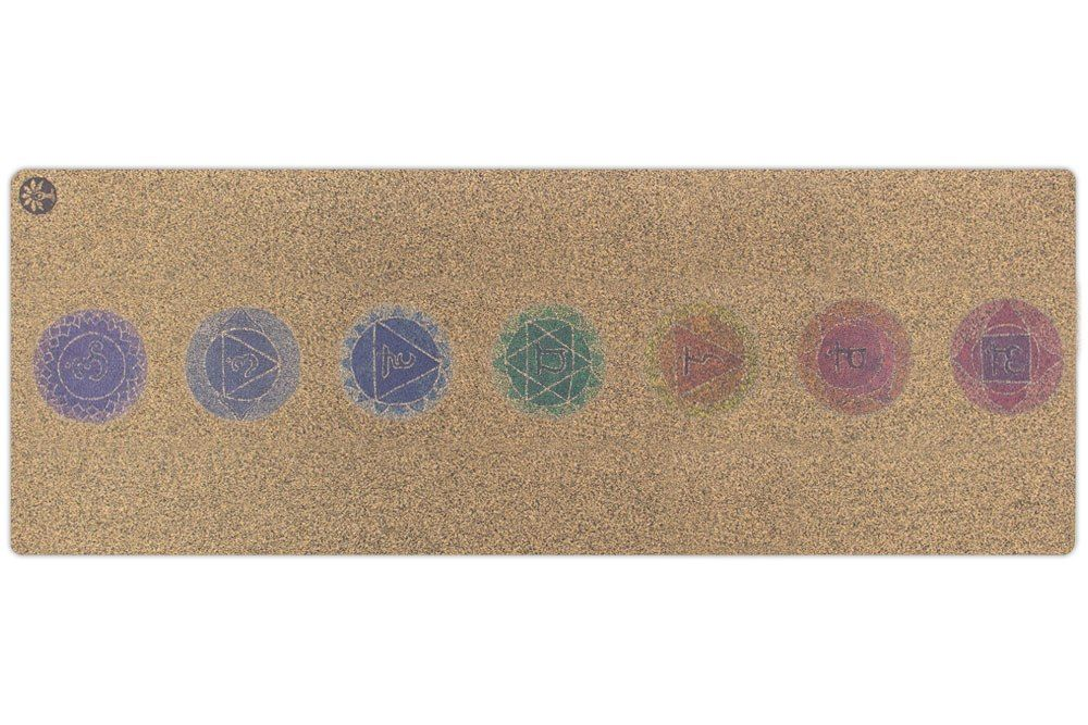 Chakras Native Cork Yoga Mat #corkyogamat