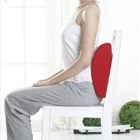 choose a chair with back support or use a lumbar pillow when sitting to ensure that