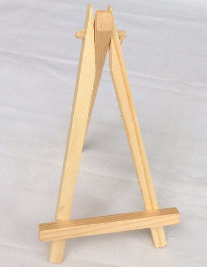 natural wood easel display stand chalkboard easels pinterest