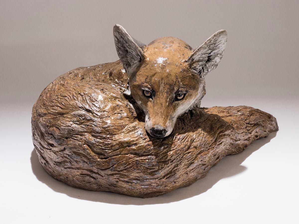 Nick mackman animal sculpture fox critters