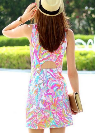 a1da026e1ae Lilly Pulitzer Whiting Cut-Out Shift in Scuba to Cuba styled by   crileypinterest