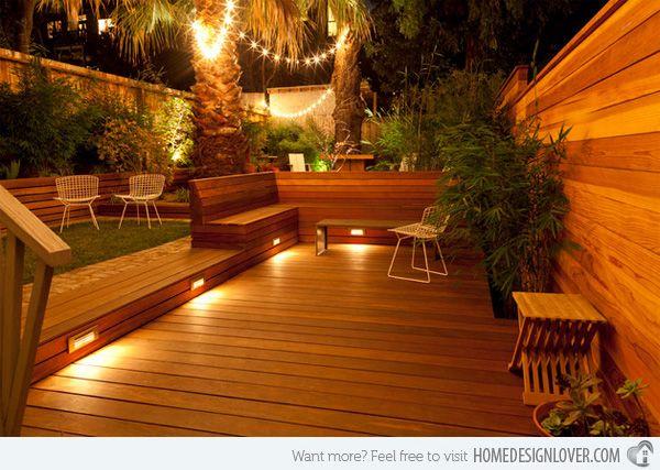 15 Must See Deck Lighting Ideas Home Design Lover Outdoor Deck Lighting Modern Landscaping Backyard Patio