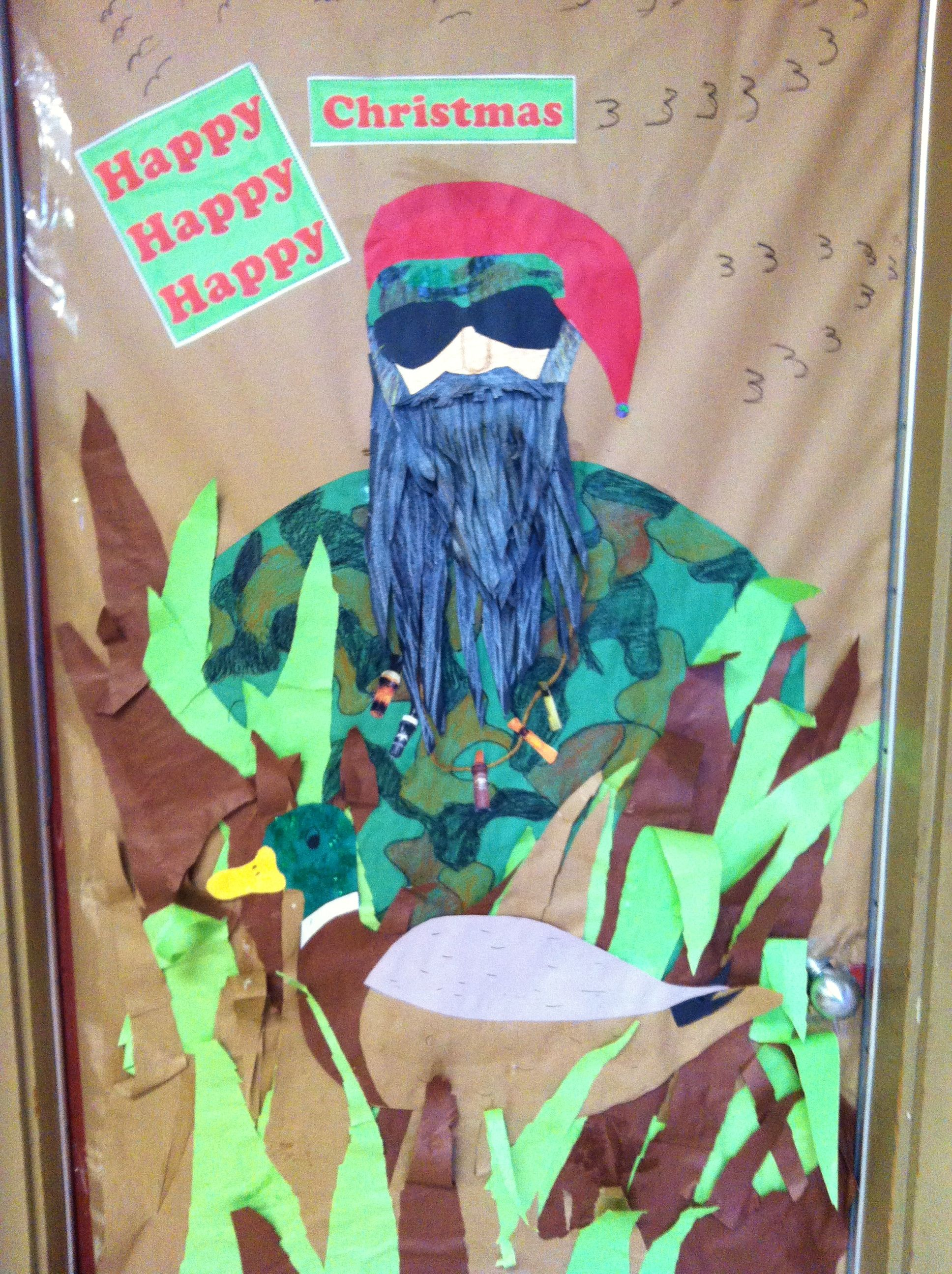 Duck Dynasty Christmas Door! Opps! Pinned the wrong photo the first - classroom door halloween decorations
