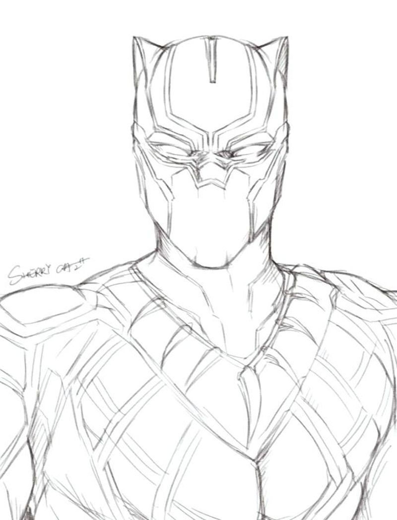 Black Panther Cartoon Coloring Pages Black Panther Tells The