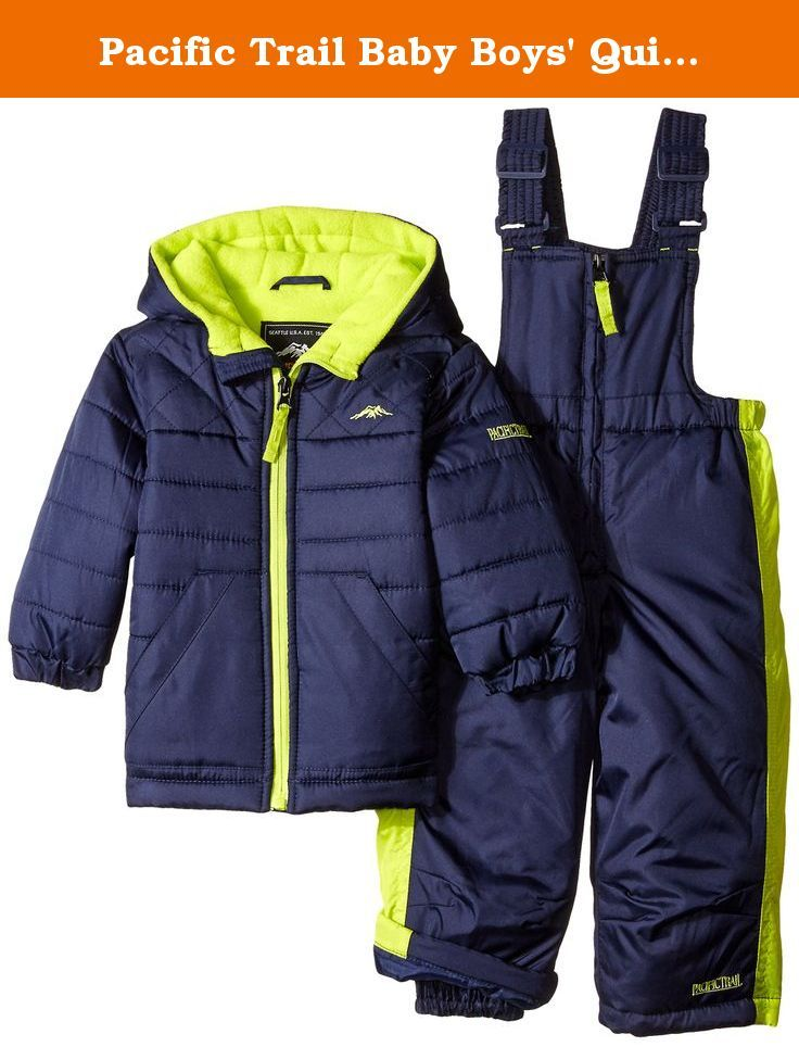 61337d53a3c9 Pacific Trail Baby Boys  Quilted 2 Piece Snowsuit