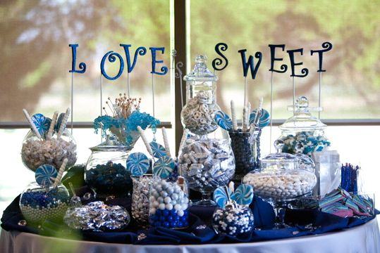Candy Bar At My Wedding Colors Were Navy Blue Silver And