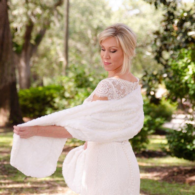 30+ White fur shawl wedding information