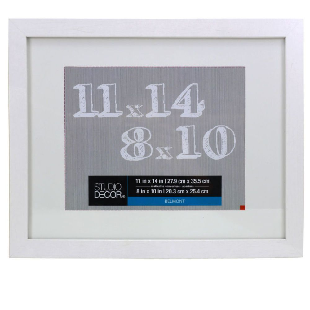 White Belmont Frame With Mat By Studio Décor®   Entrance Update ...