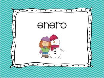 Classroom Label Set in Spanish- chevron | Spanish Classroom ideas ...