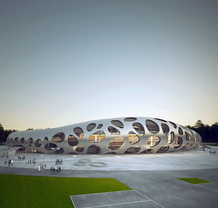 FOOTBALL STADIUM FC BATE BORISOV By Ofis Arhitekti Gallery