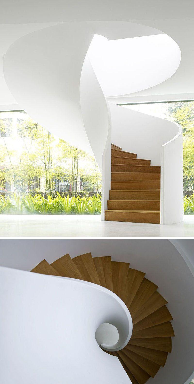 Best 16 Modern Spiral Staircases Found In Homes Around The 400 x 300