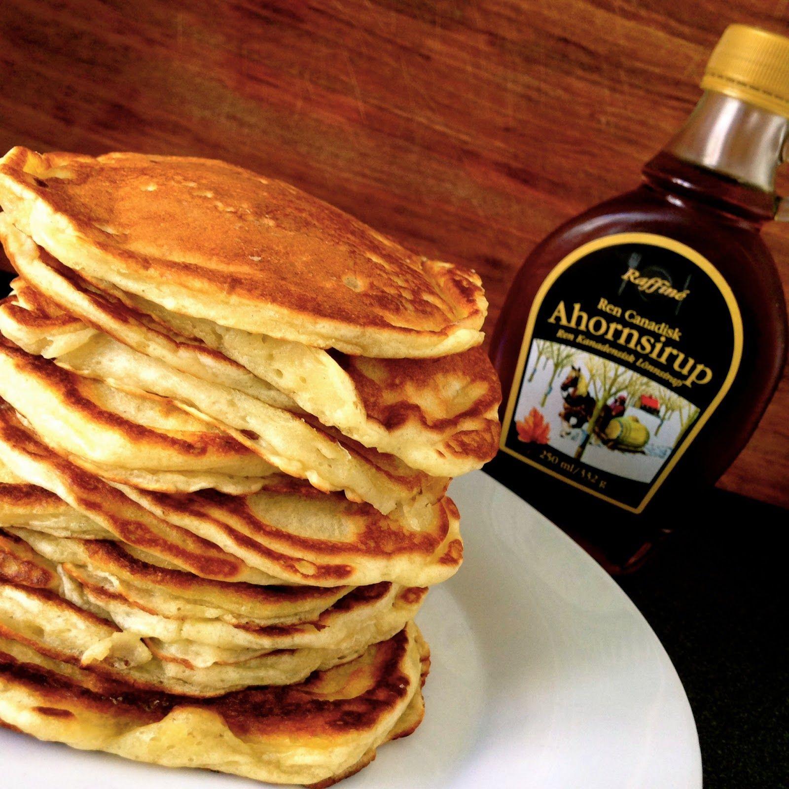 Buttermilk Pancakes Pandekager Mad Og Drikke Food Cakes