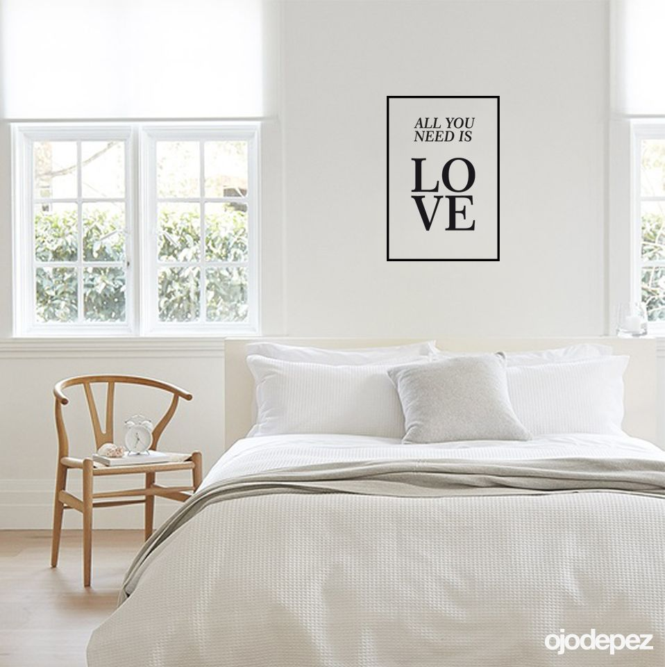 Vinilo decorativo Frase 012: All you need is love (todo lo que ...