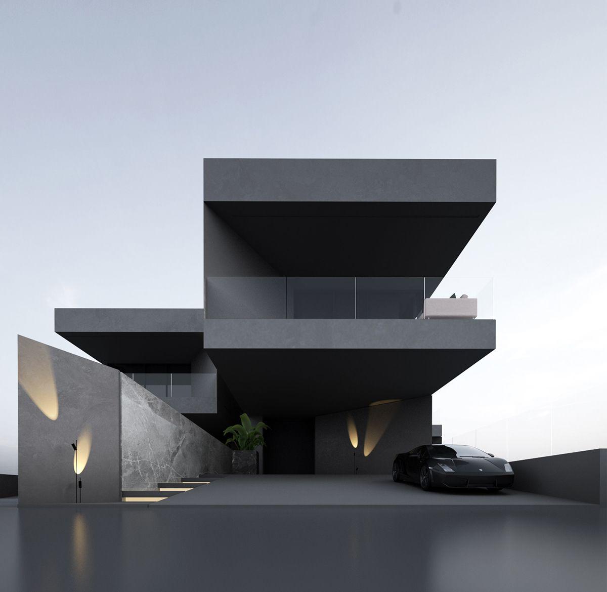 Project 705 On Behance 현대 주거 건축 콘테이너 하우스 집 외관