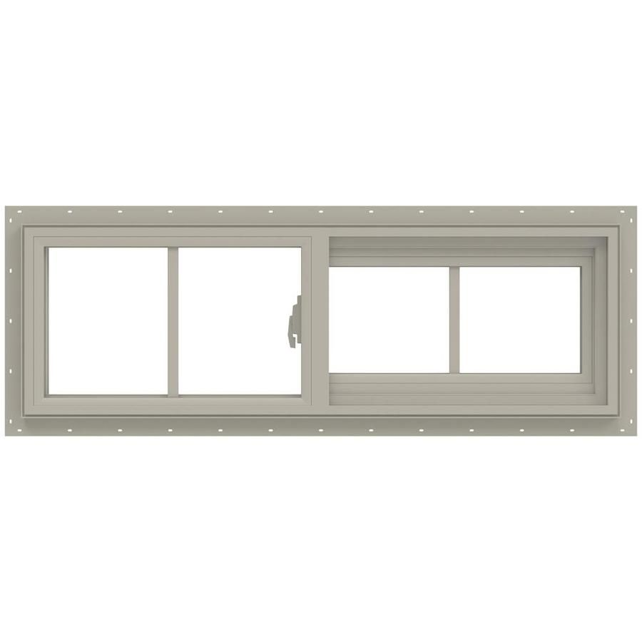 Jeld Wen V 2500 Right Operable Vinyl New Construction Desert Sand Exterior Sliding Window Rough Opening 36 In X 12 In Actual 35 5 In X 11 5 In Lowes Com In 2020 Sliding Windows Jeld Wen Vinyl Sliding Windows