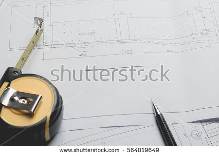 Engineering diagram blueprint paper drafting project sketch engineering diagram blueprint paper drafting project sketch architecturalselective focus buy this stock photo on shutterstock find other images malvernweather Choice Image