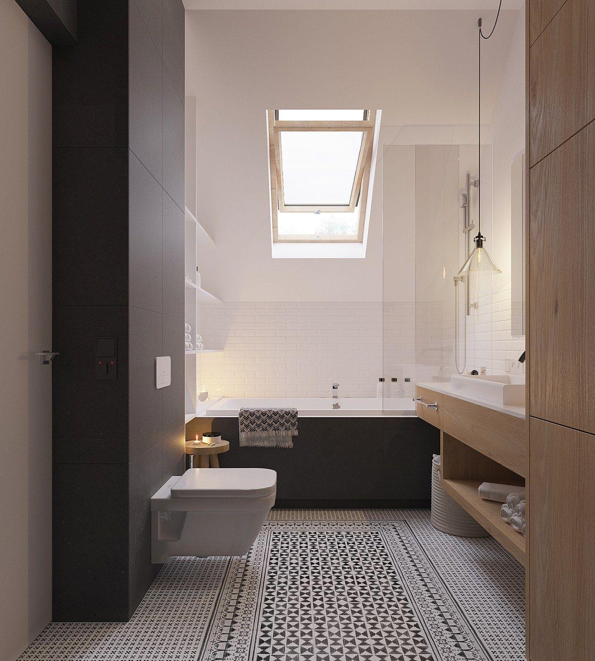 Elegantes badezimmerdesign originale appartamento stile scandinavo moderno design unico ed
