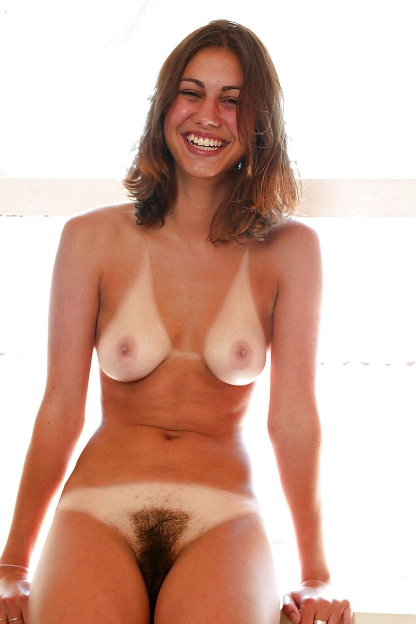 hairy tan lines girl naked