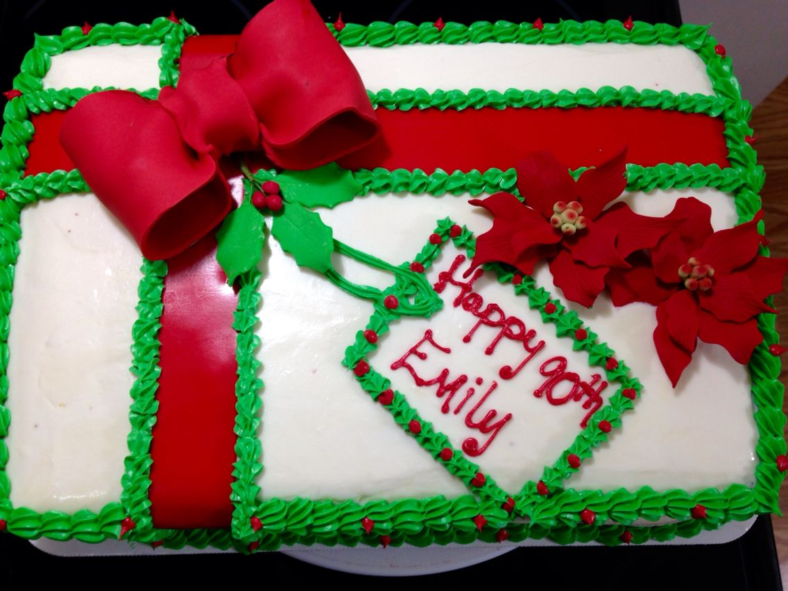 Christmas Gift 90th Birthday Cake