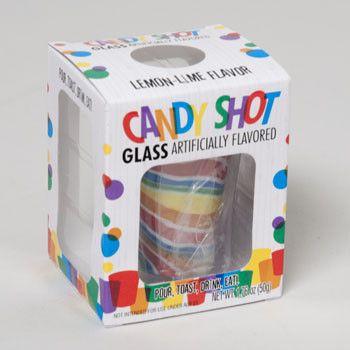 Candy Shot Glass 1.76 Oz (50g) Lemon Lime Flavor / 24 pcs