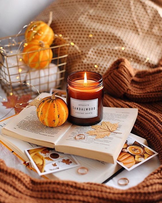 Autumn candles for good vibes
