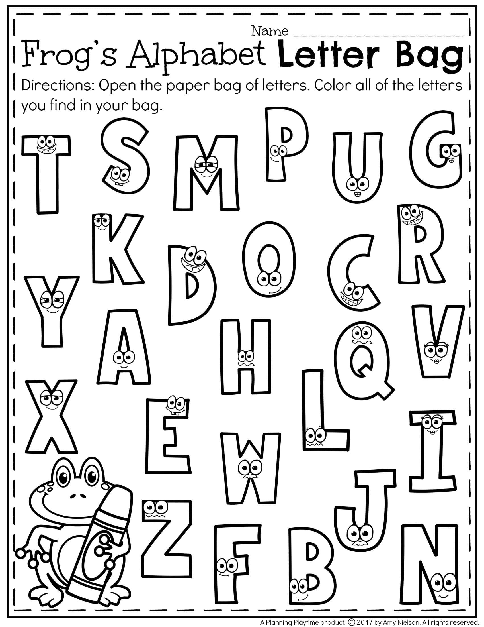 Worksheets Alphabet Recognition Worksheets letter recognition worksheets pre school and homeschool free worksheet for kids