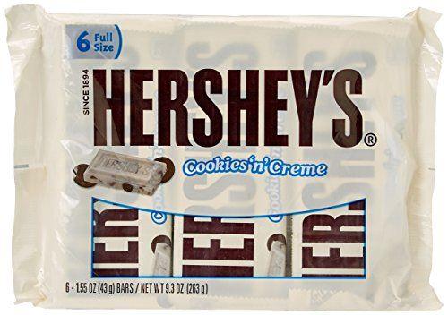 Hersheys Cookies N Creme Bar 6 Count 155 Ounce Pack Of 4