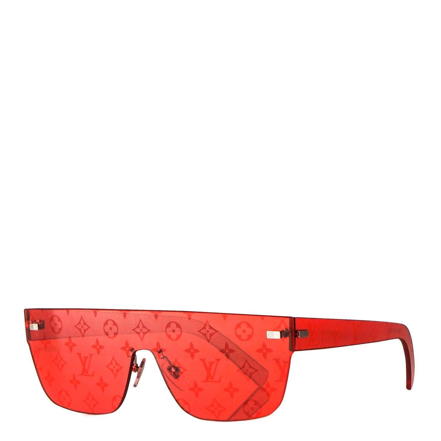 da6cf62ba5 This is an authentic pair of LOUIS VUITTON X Supreme City Mask Sunglasses  Z0992U in Coquelicot Red. These celebrity-coveted shield sunglasses are  featured ...