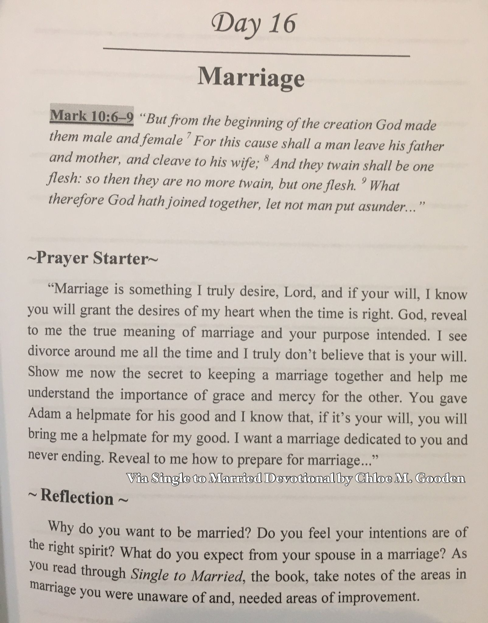 To whom do they pray for marriage