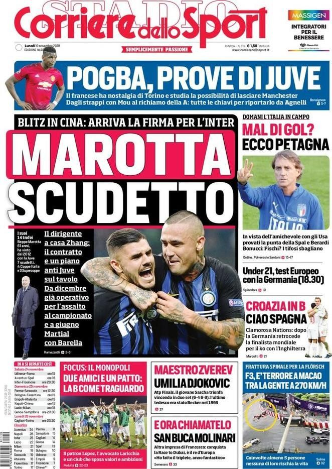 Corriere dello Sport (19 de noviembre de 2018) 19 de