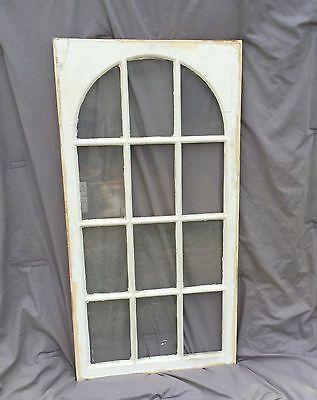 Arched Vintage Sash Antique Wood Window Frame Art Decoration Salvaged Rustic Ar