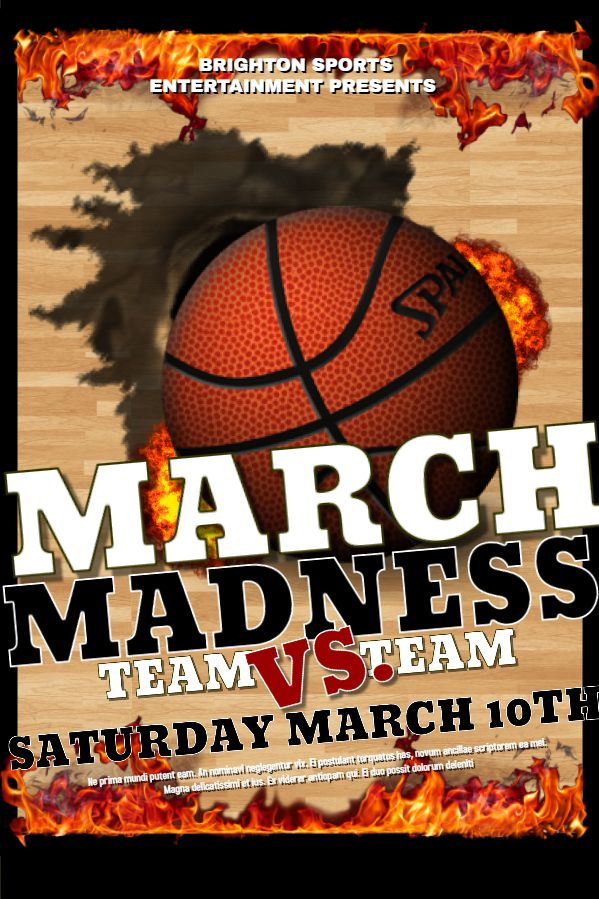 Basketball March Madness Poster Template. Click to customize ...