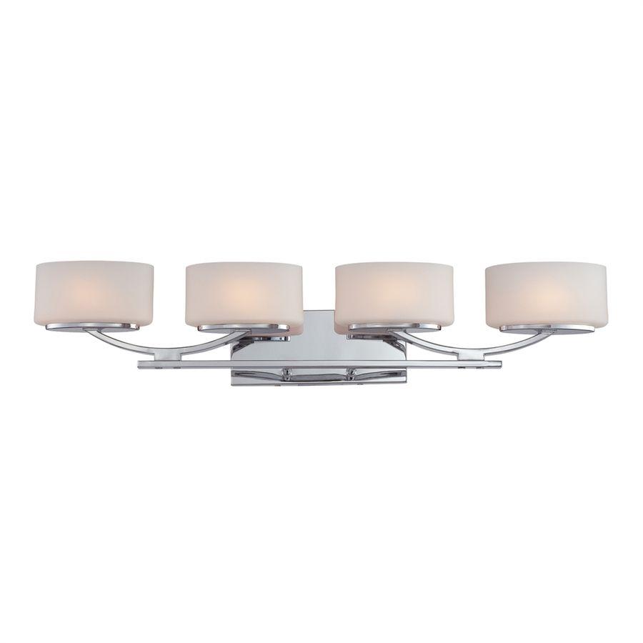 Ashley Harbour 4 Light 6.6 In Polished Chrome Oval Vanity Light Lwsc0957d2