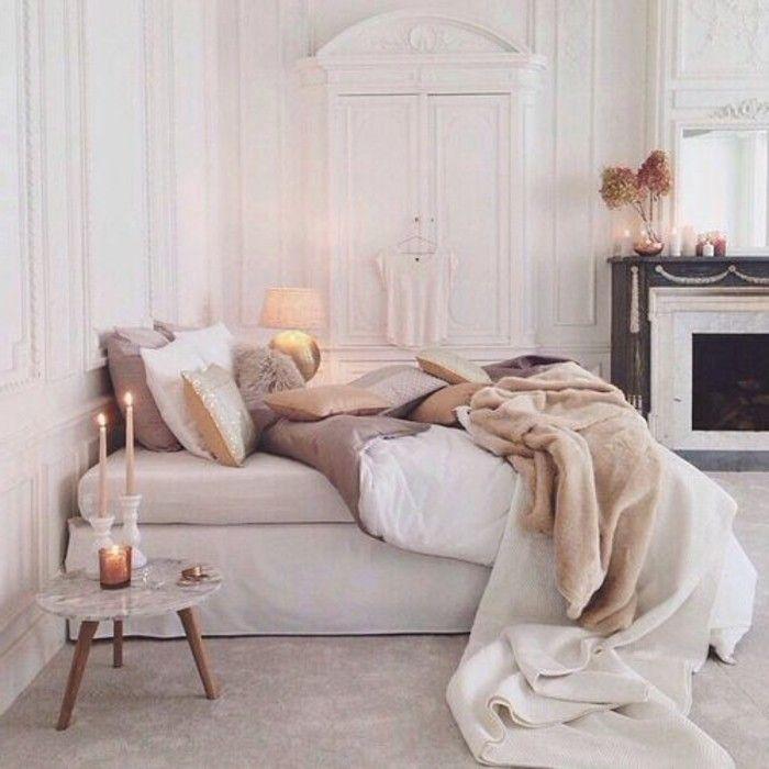 Schlafzimmer Wandfarbe Ideen in 140 Fotos! | Wandfarbe weiß ...