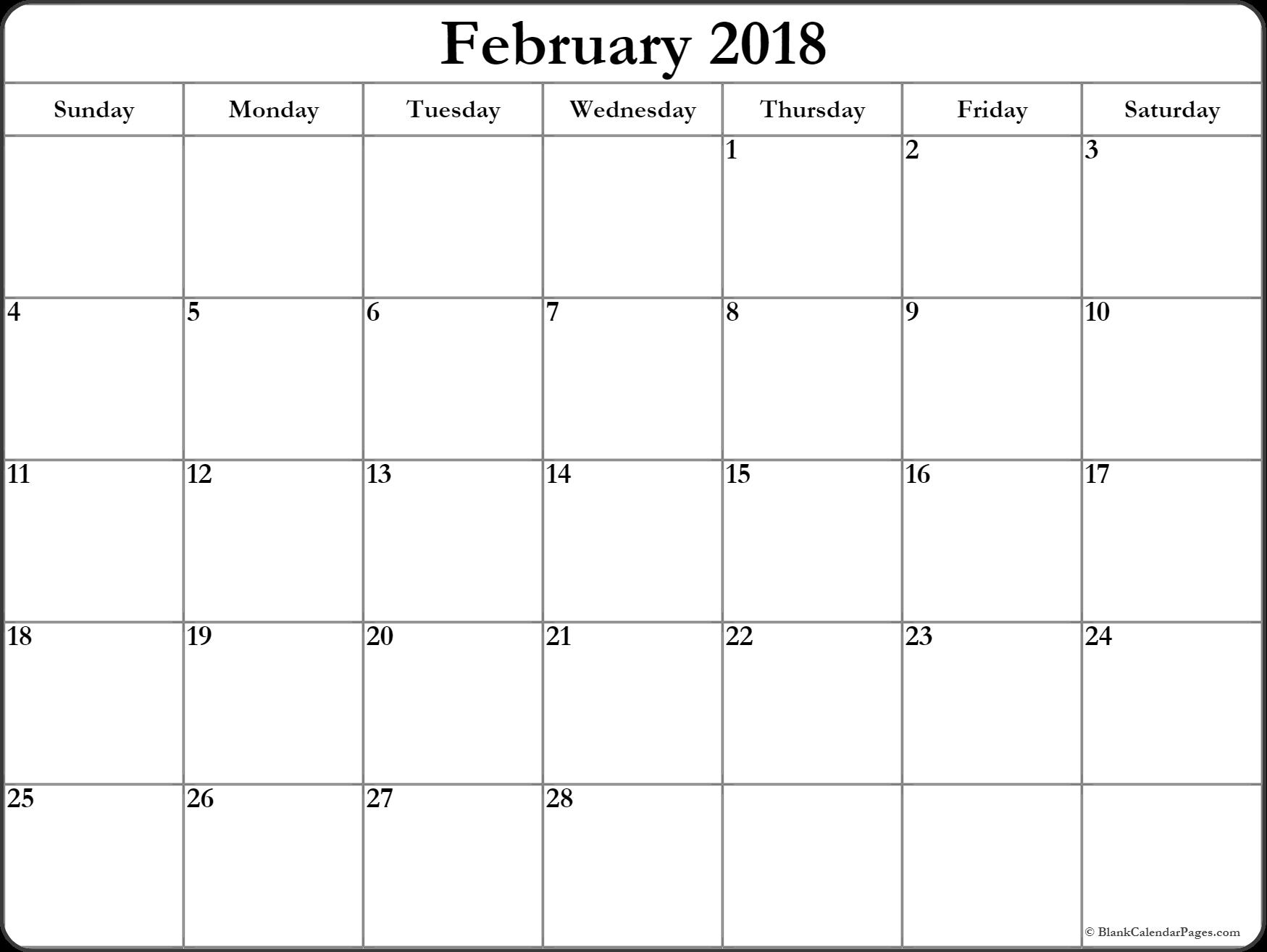 February Calendar  Printable And Free Blank Calendar February