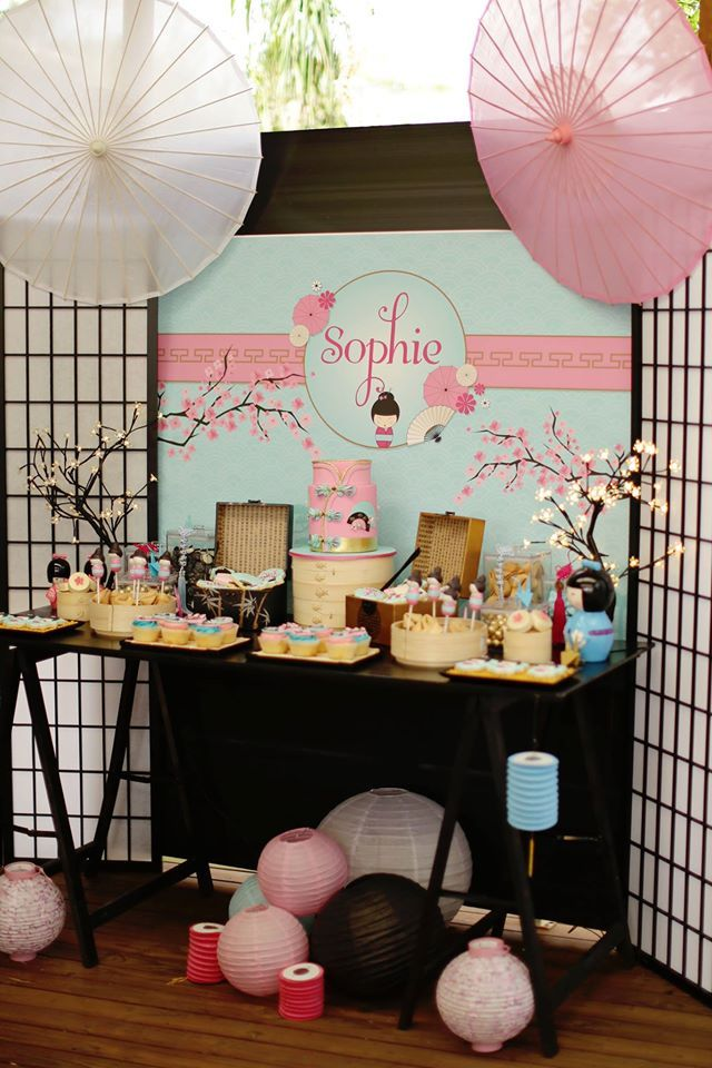 Japanese Art & Tea Party - 10 Love Birds  Japanese theme parties