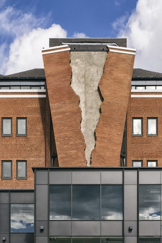 Artist Alex Chinneck Installs Ripped Brick Facade on London Building