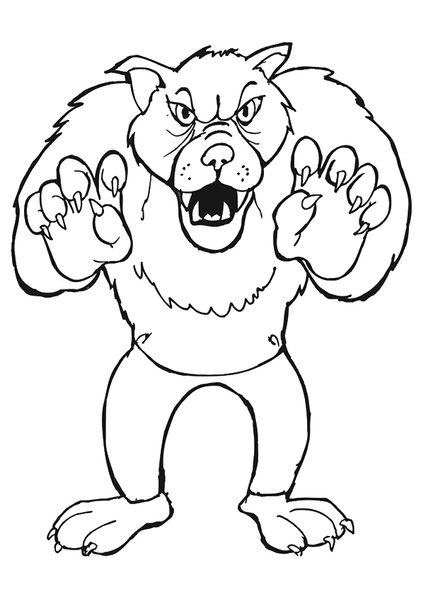 Wolf Halloween Coloring Page Free Coloring Page Template Printing Printable Halloween Coloring Pages For Wolf Colors Halloween Coloring Animal Coloring Pages