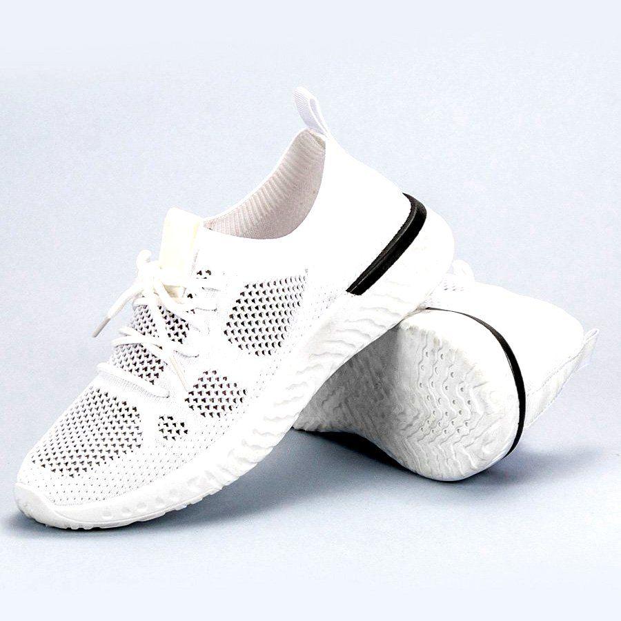 Białe Przewiewne Buty Sportowe | Sportowe damskie w 2019