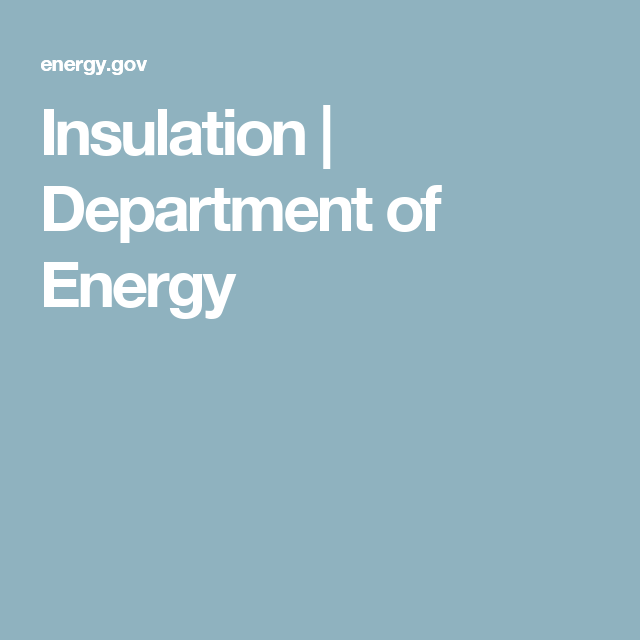 Insulation | Department of Energy