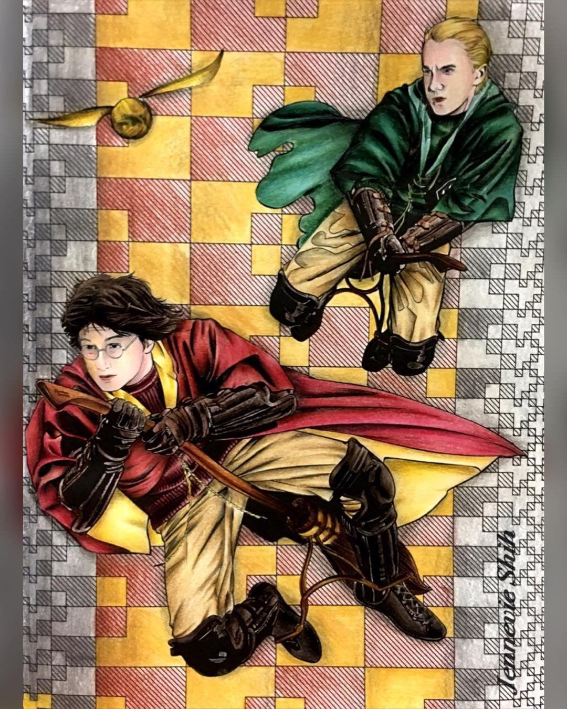 Quidditch Harrypottercoloringbook Harrypotter Quidditch Malfoy Dracomalfoy Quiddit Harry Potter Coloring Book Harry Potter Movie Harry Potter Theatre