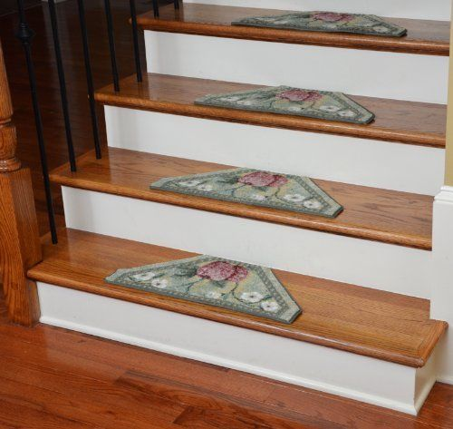 Best Washable Non Skid Carpet Stair Treads Green Fruit 13 400 x 300