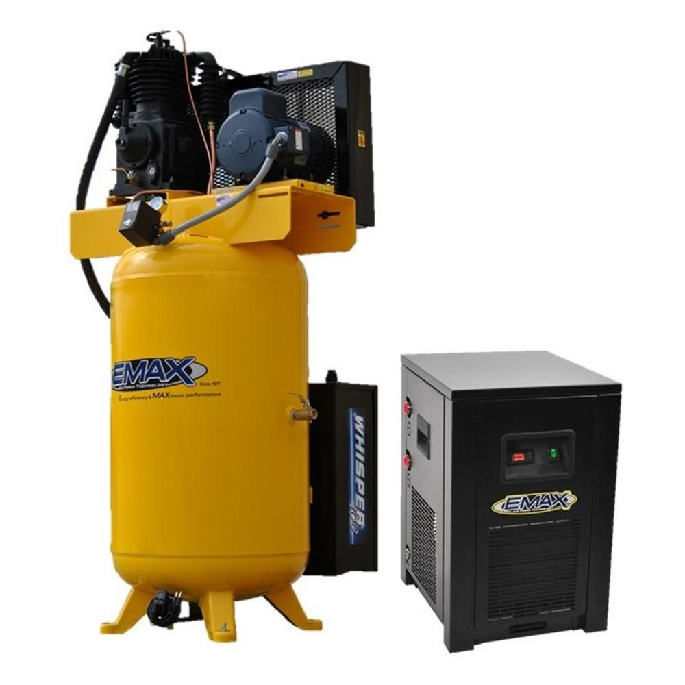 Emax Industrial Plus 80 Gal 5 Hp 1 Phase 2 Stage Silent Air
