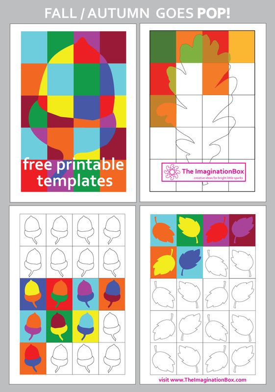 Here Are Some Pop Art Autumn Free Templates To Fit With Our