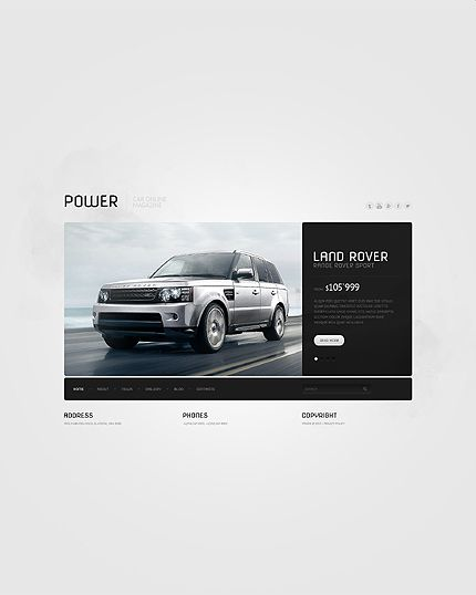 Car responsive website template website and product packaging bootstrap responsive website template 43179 pronofoot35fo Choice Image