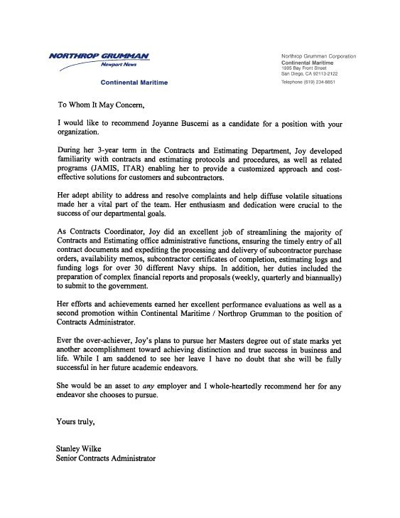 good recommendation letter for employee - Juvecenitdelacabrera