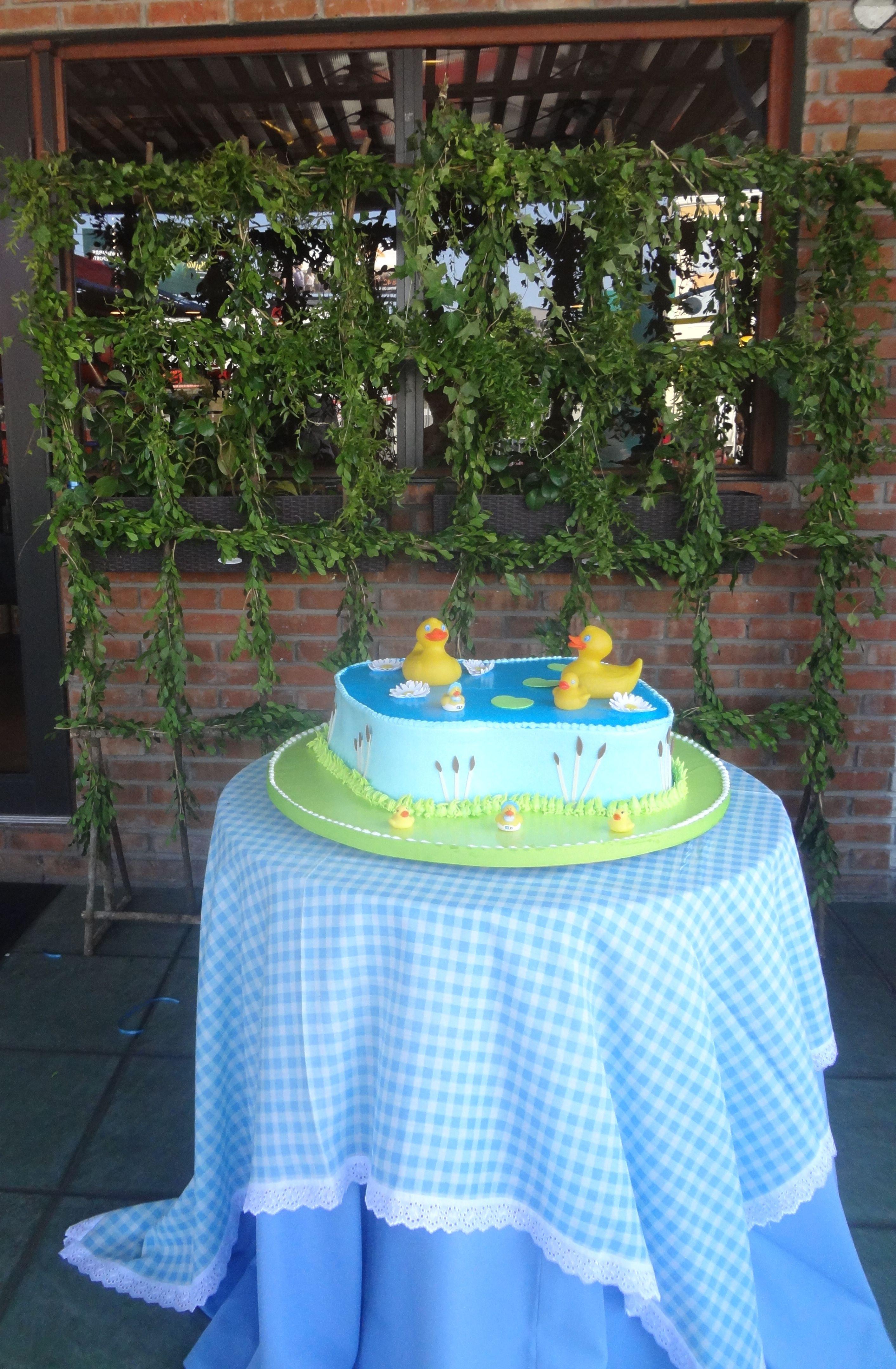 Garden decor for baby shower  DUCKS LAKE BABYSHOWER  BABYSHOWER DECORATIONS  Pinterest  Babyshower