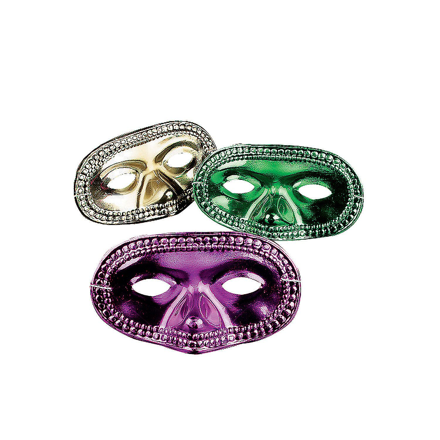 Half Masks To Decorate Endearing Metallic Mardi Gras Half Masks  Orientaltrading Each Camper Design Inspiration