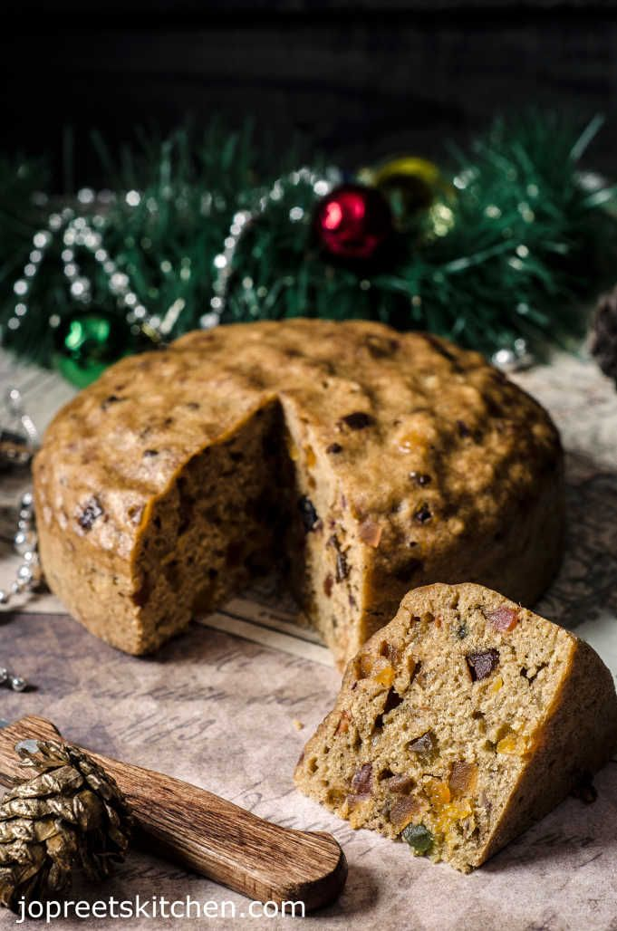 No Soak Christmas Fruit Cake