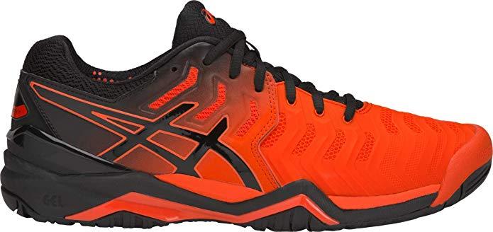 Amazon Com Asics Gel Resolution 7 Men S Tennis Shoe Cherry Tomato Black 8 D Us Tennis Racquet Sports Asics Men Tennis Shoes Winter Outfits Men